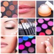 Bodycare and make-up collage — Stock Photo