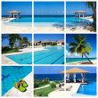 Swimming pool collage — Stock Photo #5883996