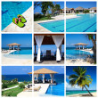 Swimming pool collage — Stock Photo #5883998