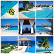 Swimming pool collage — Stock Photo
