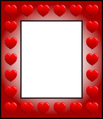 Frame with hearts — Stock Photo
