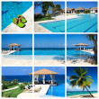 Swimming pool collage — Stock Photo #5890919