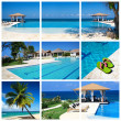 Swimming pool collage — Stock Photo