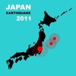 Radiation in Japan- Danger, illustration — Stock Photo #5891027
