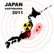 Radiation in Japan- Danger, illustration - Stock Photo
