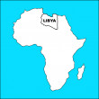 Libya map — Stock Photo