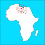 Libya map — Stock Photo
