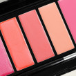 Lipgloss palette on white — Stock Photo