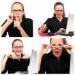 Businesswoman collage — Stock Photo #5891175