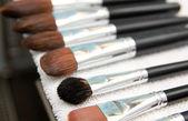 Set van natte make-up borstels — Stockfoto