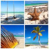 Caribische reizen collage — Stockfoto