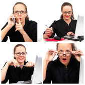 Businesswoman collage — Stock Photo