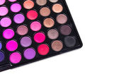 Multicolour eyeshadows palette — Stockfoto
