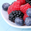 Royalty-Free Stock Photo: Different berries on plate