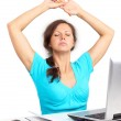 Relaxing woman in office — Stock Photo #6268650