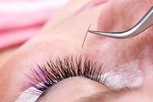 Decoration false eyelashes, macro — Stock Photo