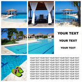 Zwembad collage — Stockfoto