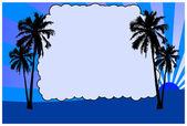 Palms on sunset — Stock Photo