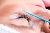 Built up false eyelashes — Stock Photo