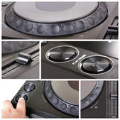 Dj cd player collage — Stock Photo