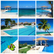 Swimming pool collage — Stock Photo #6631291