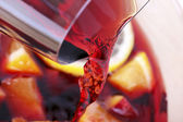 Runnung red wine — Stock Photo