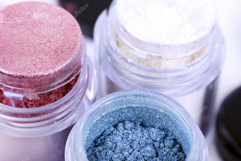 Cosmetic eyeshadows pigments, macro  Stock Photo #6631644