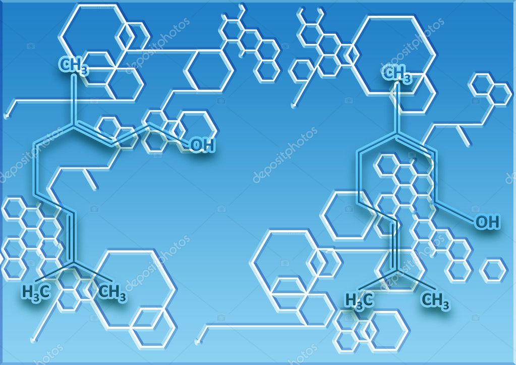 The chemical structural formula of spirit containing in esse — Stock Photo #5432617