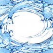 Blue water and water splash — Stock Photo