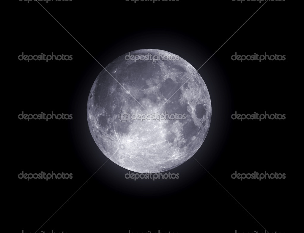 Full moon closeup showing the details of the lunar surface — Stock Photo #6098919