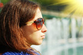 Young girl in sun glasses — Stock Photo