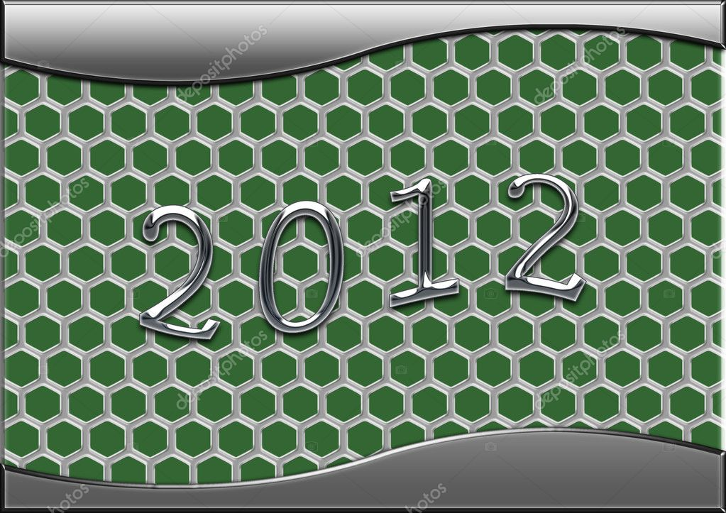 Number of coming year on a metal background  Stock Photo #6373580