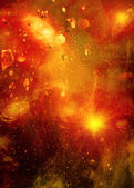 Stars of a planet and galaxy — Stock Photo