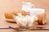 Pan y mozzarella — Foto de Stock