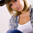 Pretty western woman - Stock Photo