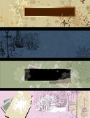Vintage grunge banner set — Stock Vector