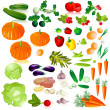 Stock Vector: Vegetables isolated collection
