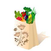 Paquete de verduras — Vector de stock