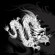 Stock Vector: White Chinese dragon