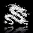 White Chinese dragon — Stock Vector #6209539