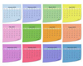 Calendar for 2012 — Stock Vector