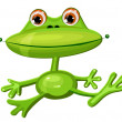 Green frog funny — Stock Vector