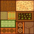 Mix African backgrounds - Stock Vector