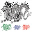 Chinese dragon — Stock Vector #6422873