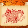 Stock Vector: Chinese dragon pattern