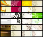 12 水平名片,两面 — 图库矢量图片