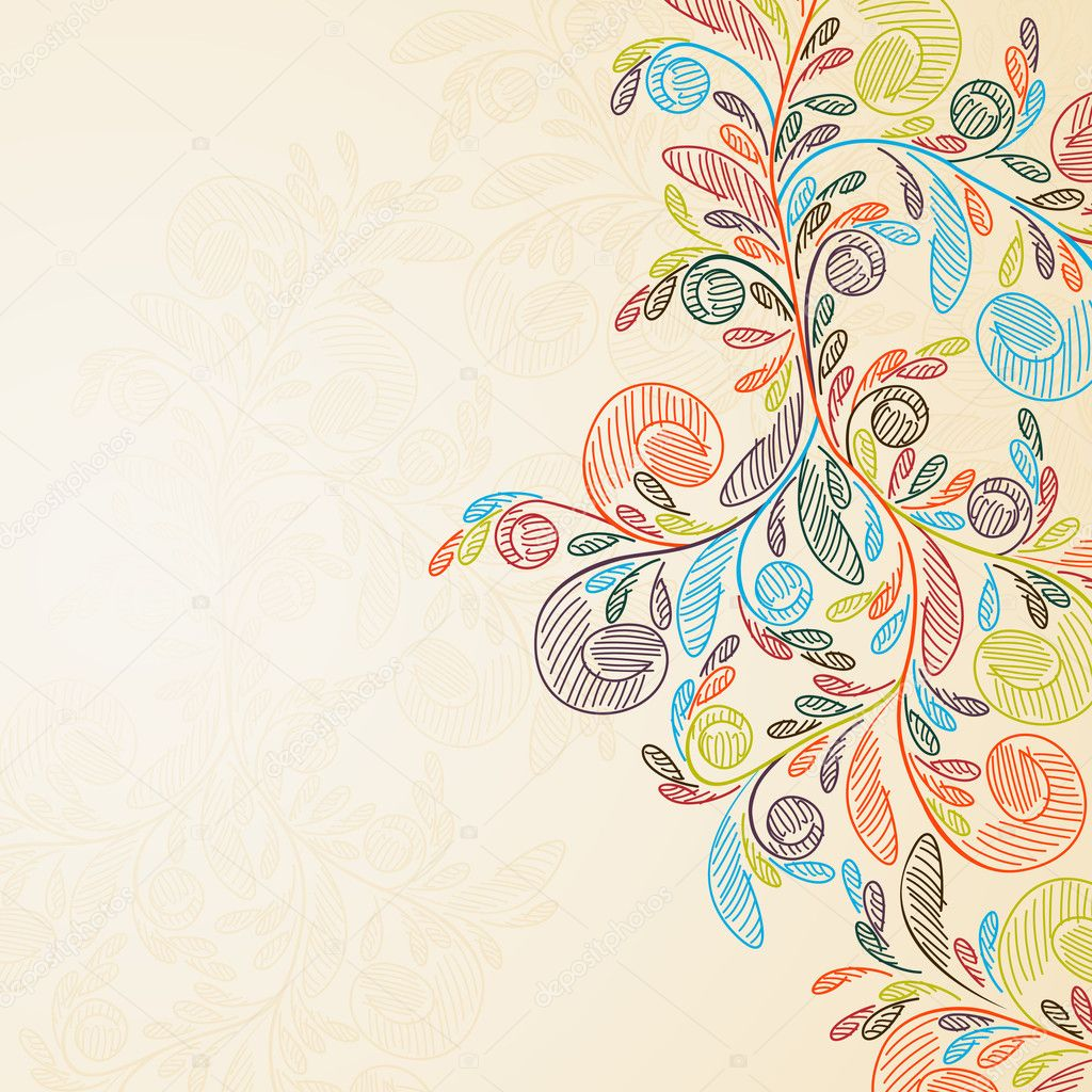 Floral background  Stock Vector #5632015