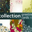 Collection greeting cards — Stockvectorbeeld