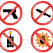 Постер, плакат: Prohibiting signs vector format