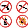 Prohibiting signs vector format. - Stock Vector
